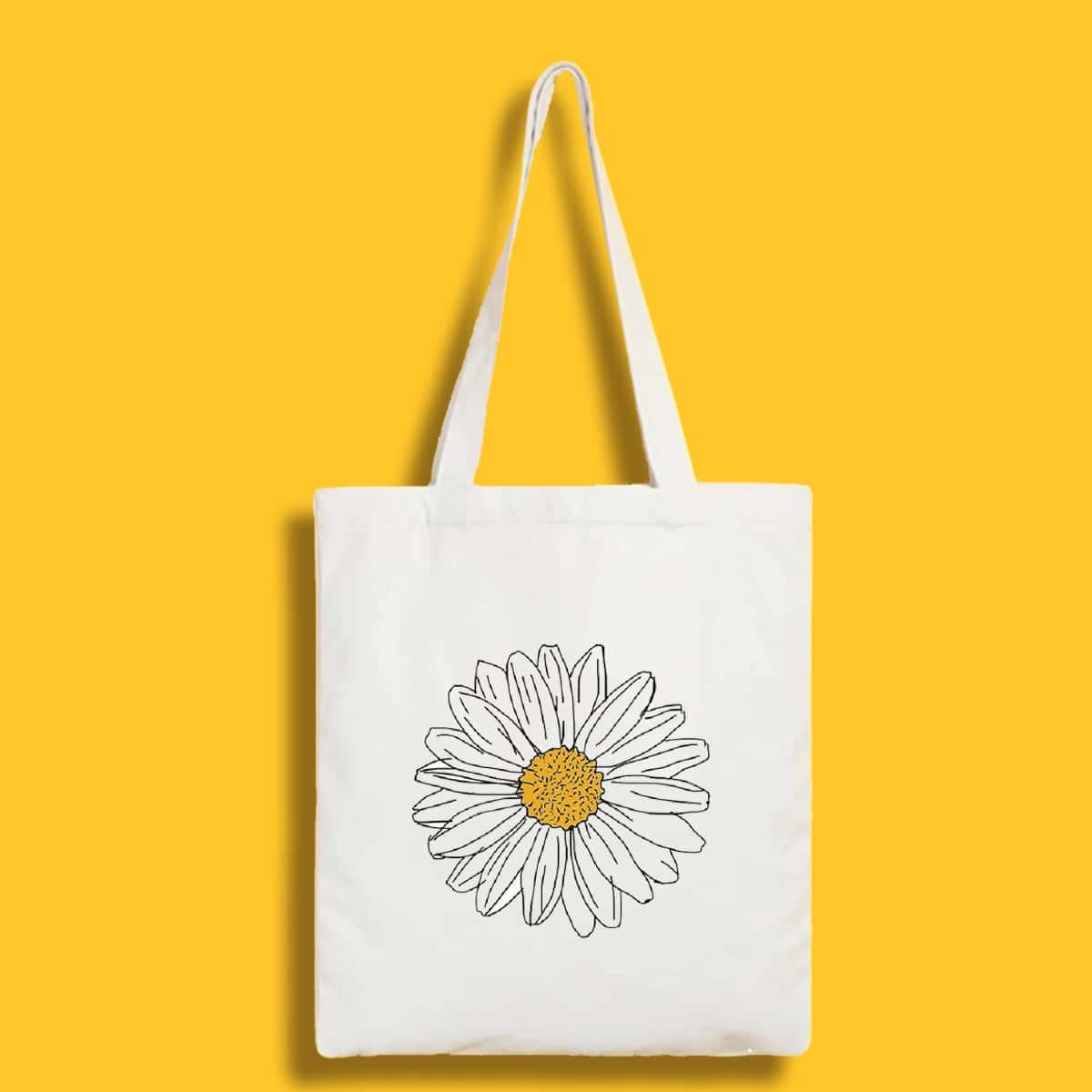 двойная ручка Со цветочками Институтский Сумки-тоут