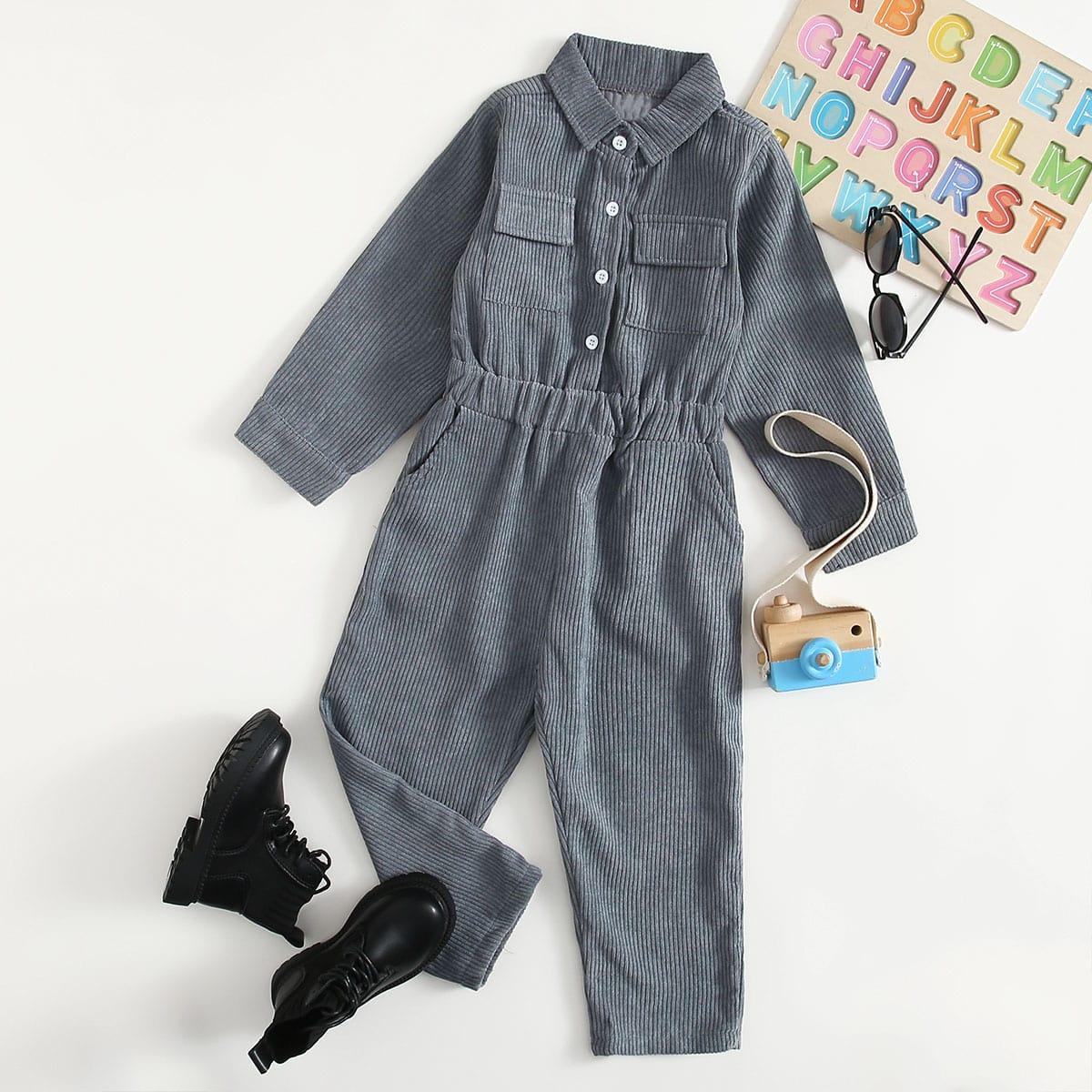 С карманами одноцветный повседневный комбинезоны для мальчиков