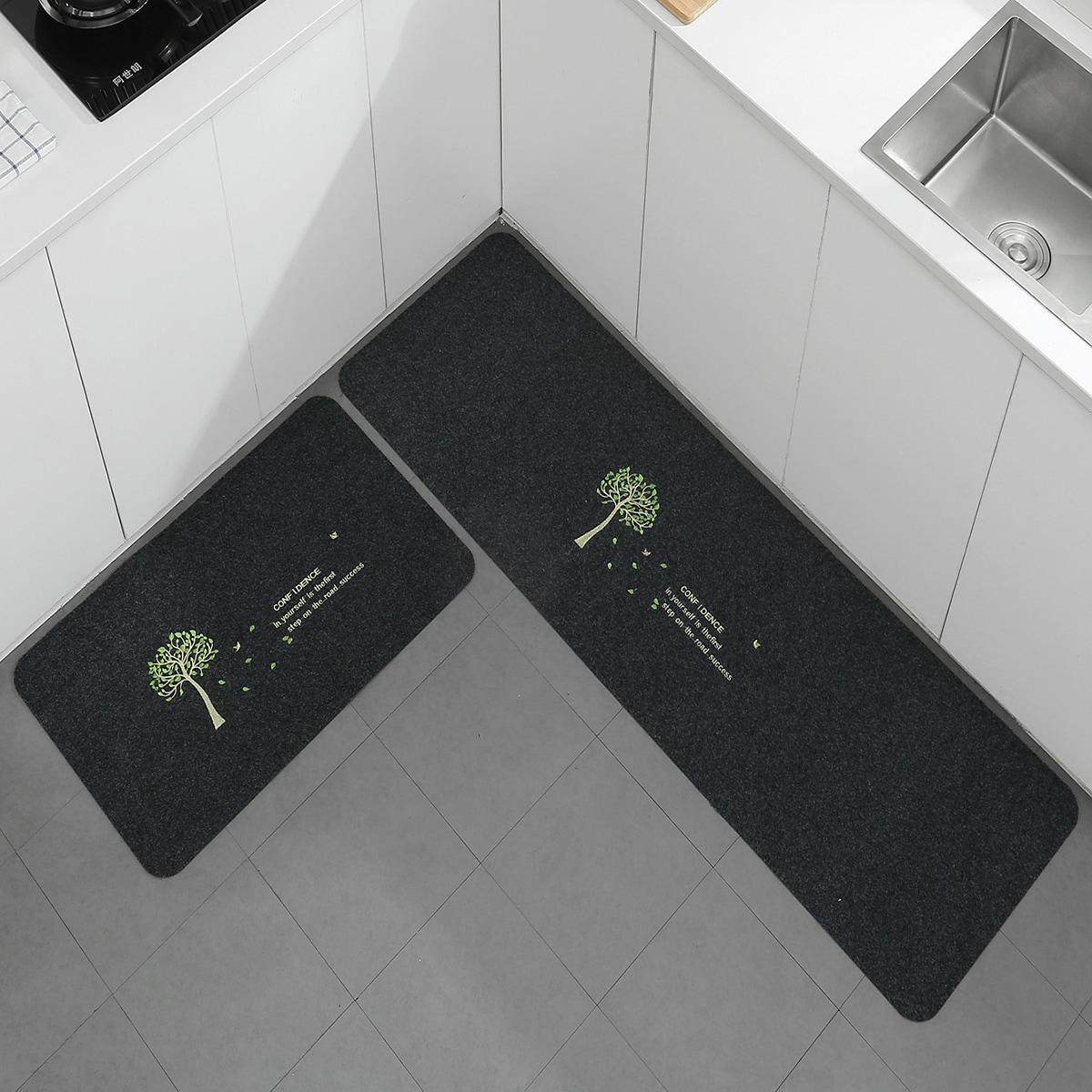 1 Stück Küchenteppich mit Baum Muster