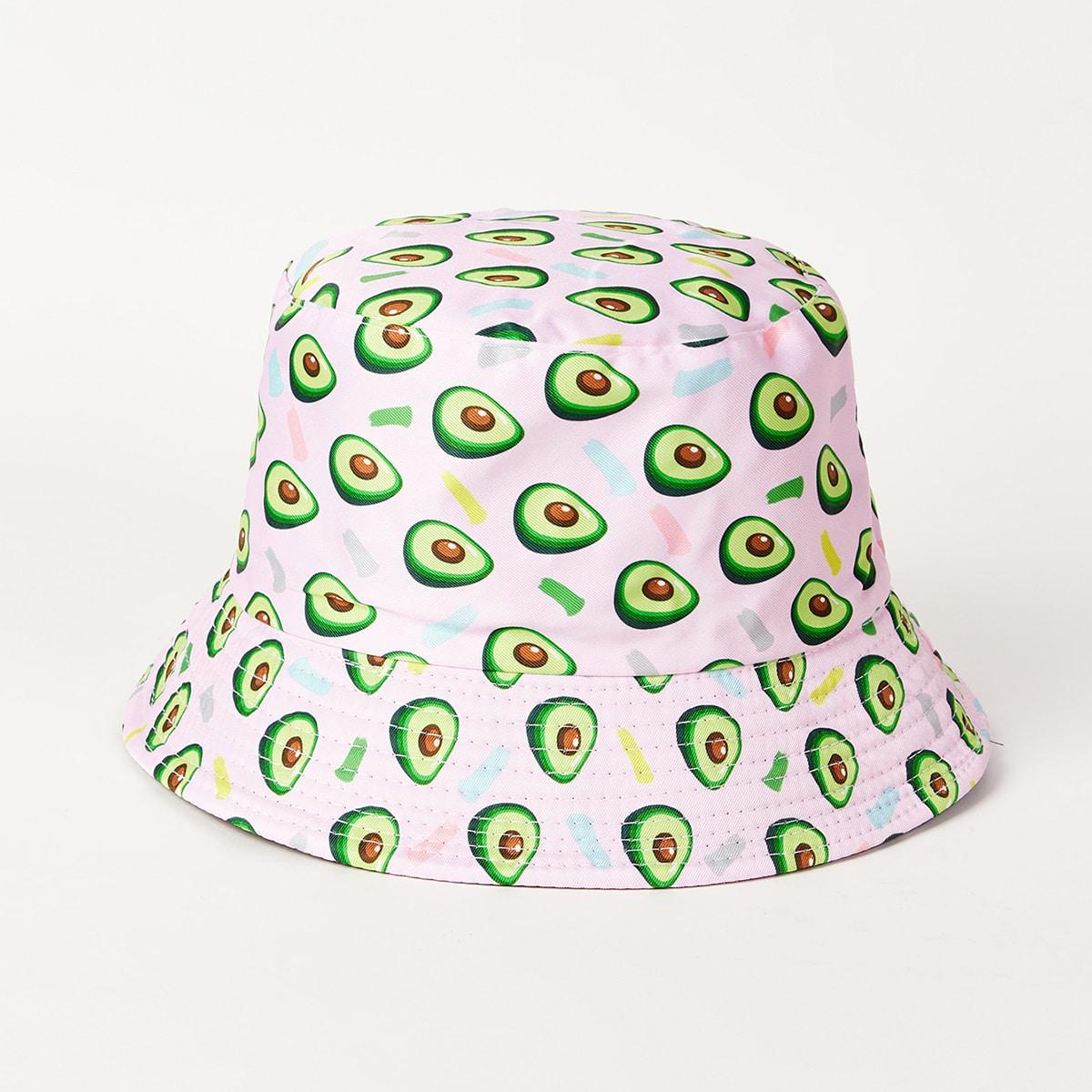 Шляпа с узором авокадо