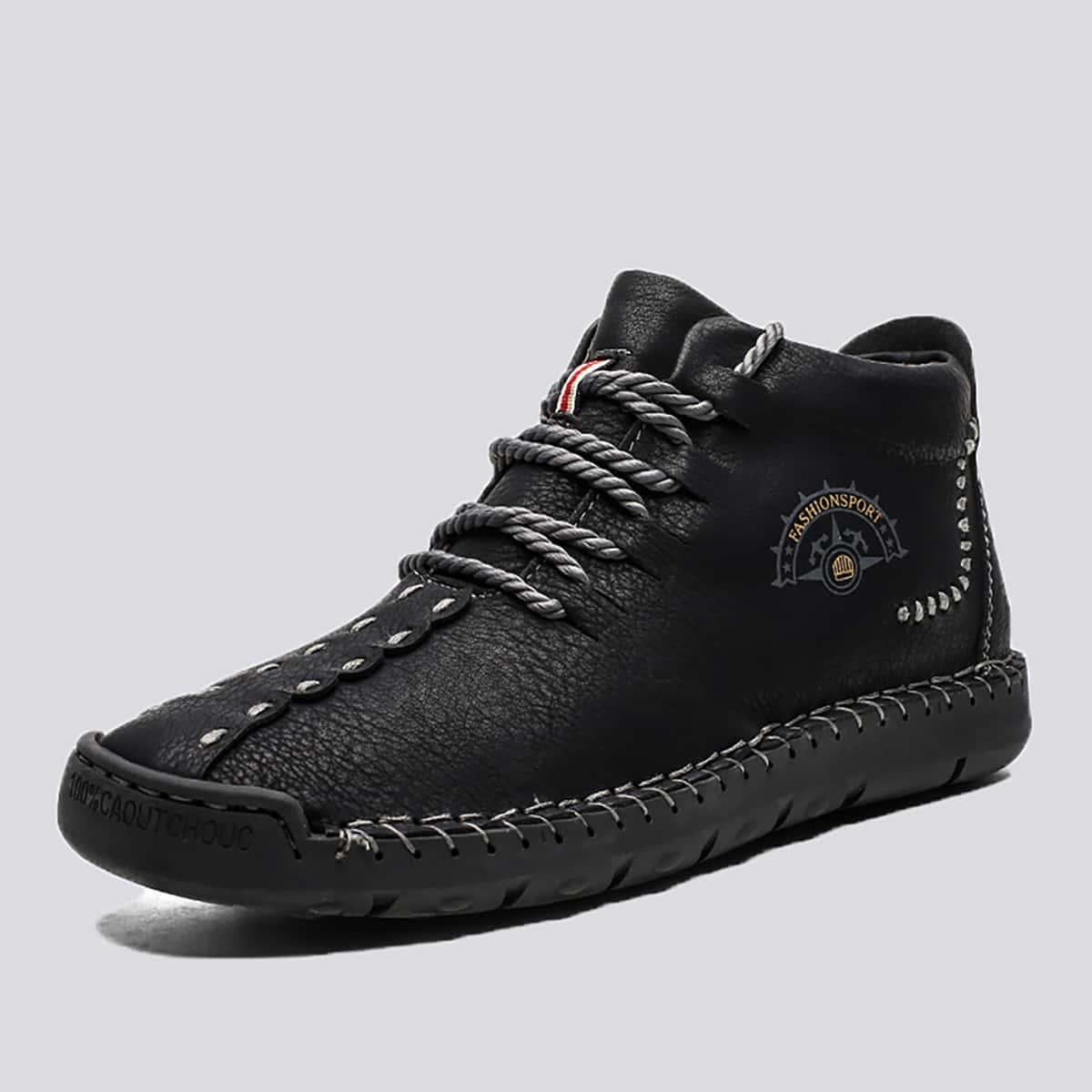 Мужские ботинки на шнурках с текстовым принтом