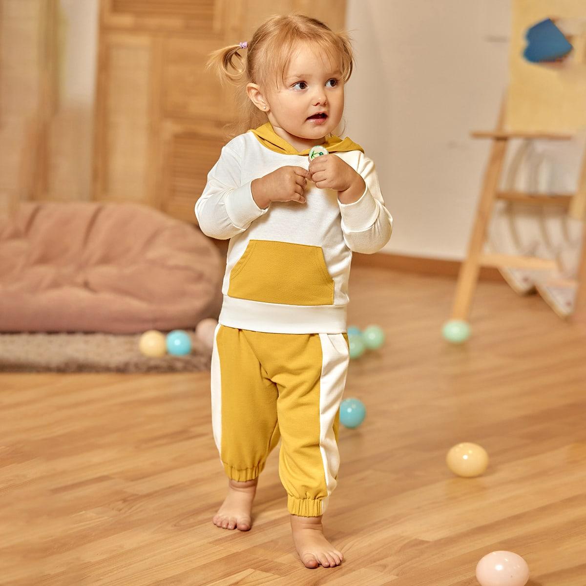 Baby Girl Kangaroo Pocket Hoodie & Sweatpants