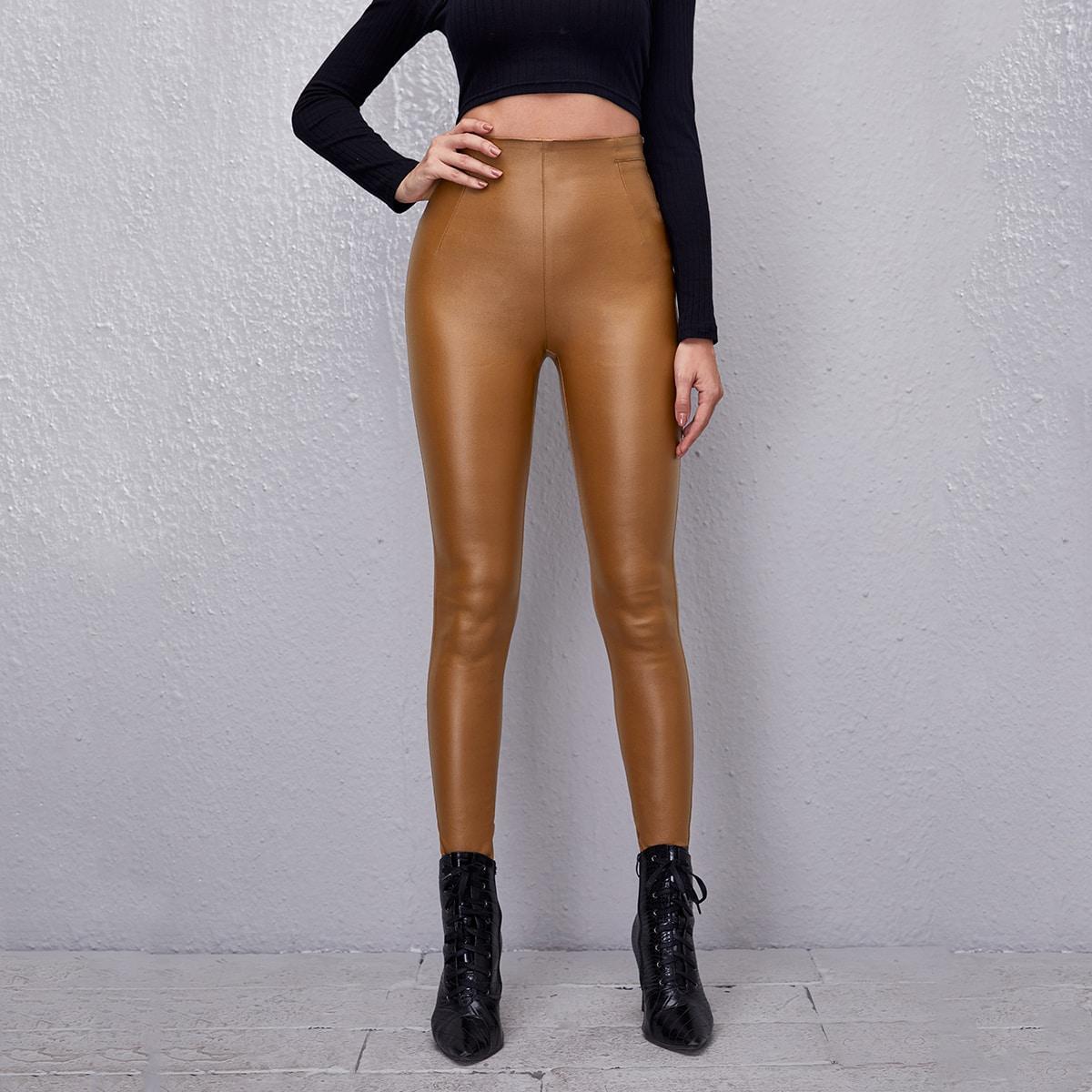 Застежка одноцветный повседневный джинсы