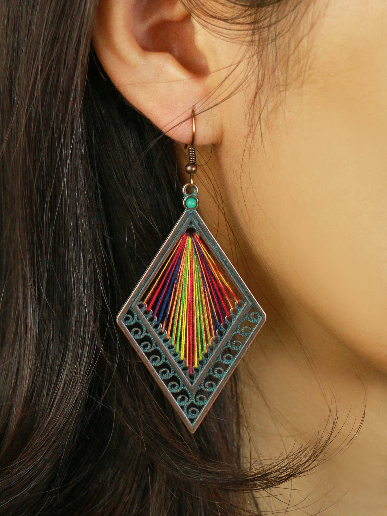 Braided Rhombus Drop Earrings thumbnail