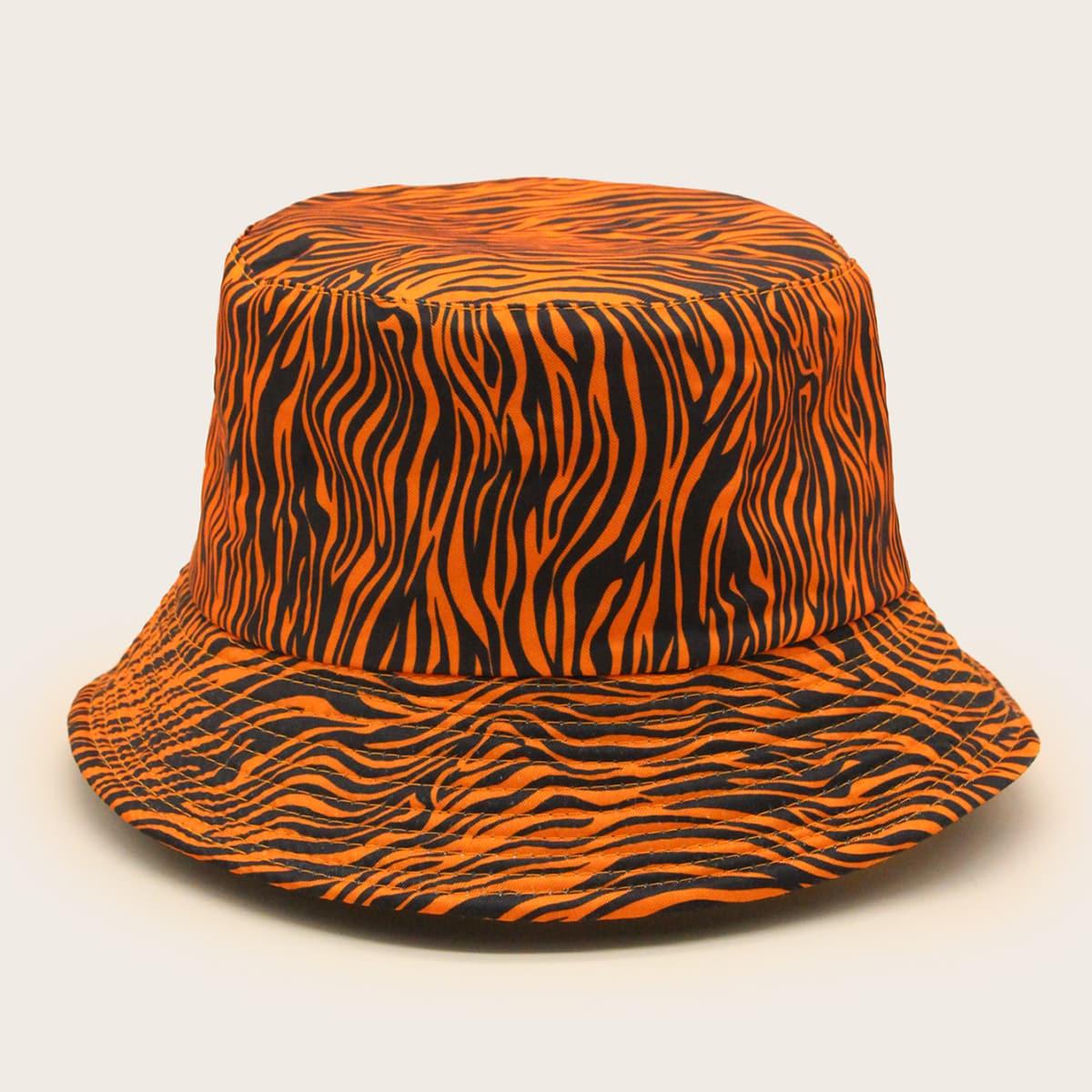 Шляпа с зебровым принтом