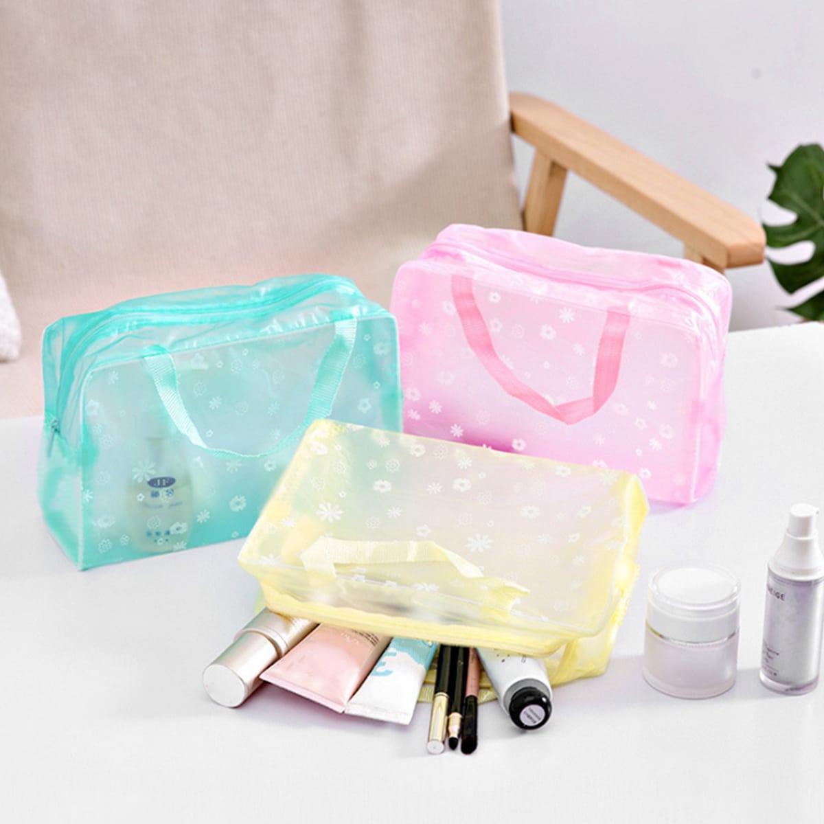 1шт случайная дорожная сумка для хранения с цветочным принтом