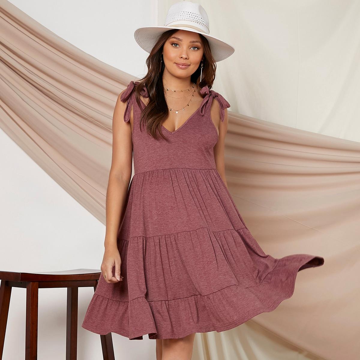 Umstandsmode Kleid mit Knoten und Riemen