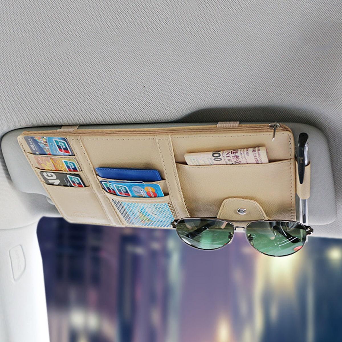 1шт сумка для хранения автомобильного солнцезащитного козырька