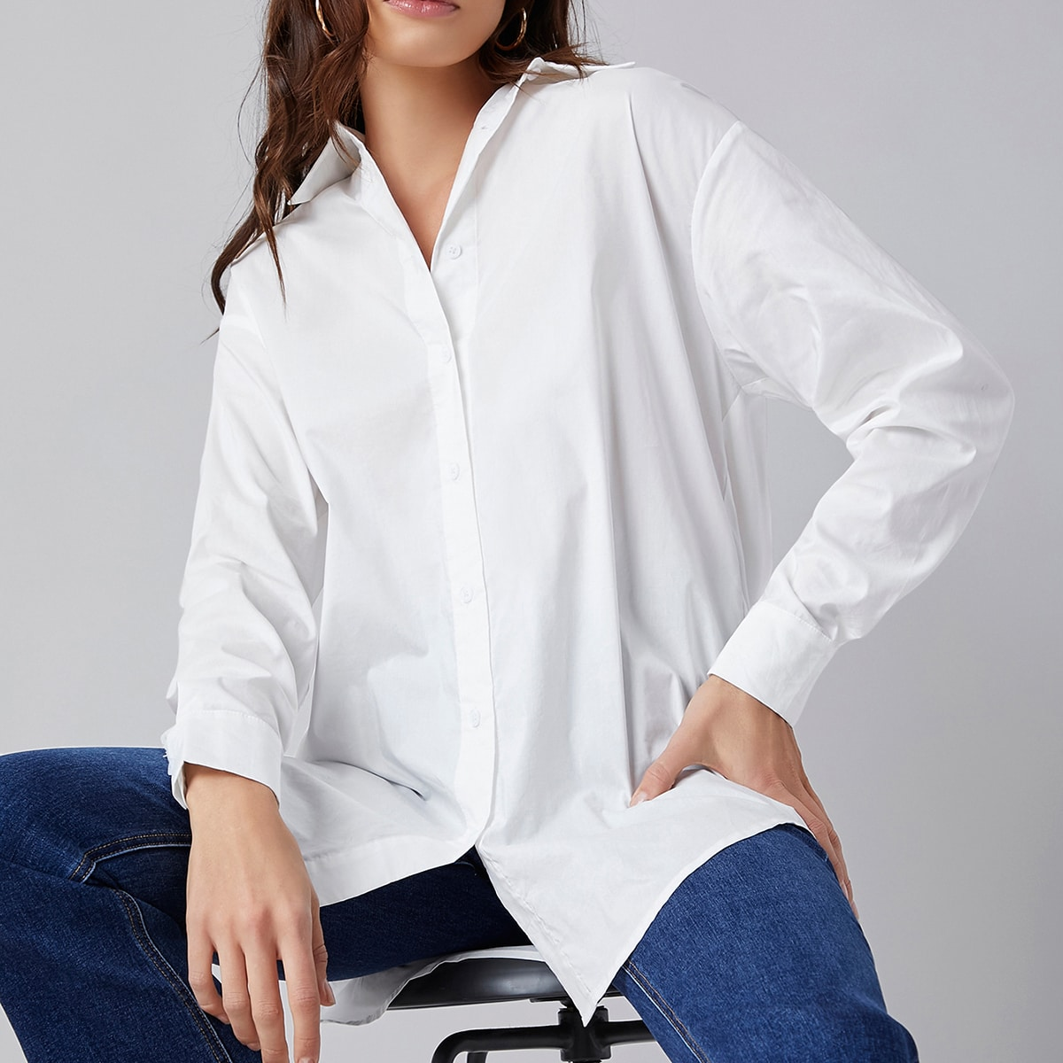 Однобортная блузка