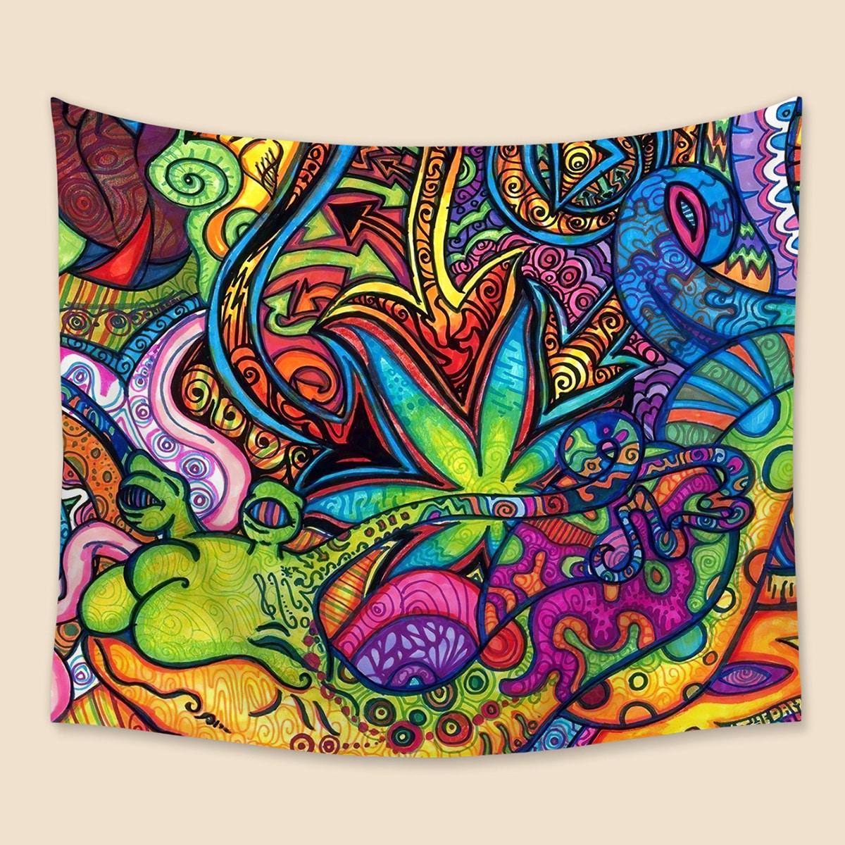 Tapisserie mit abstraktem Muster