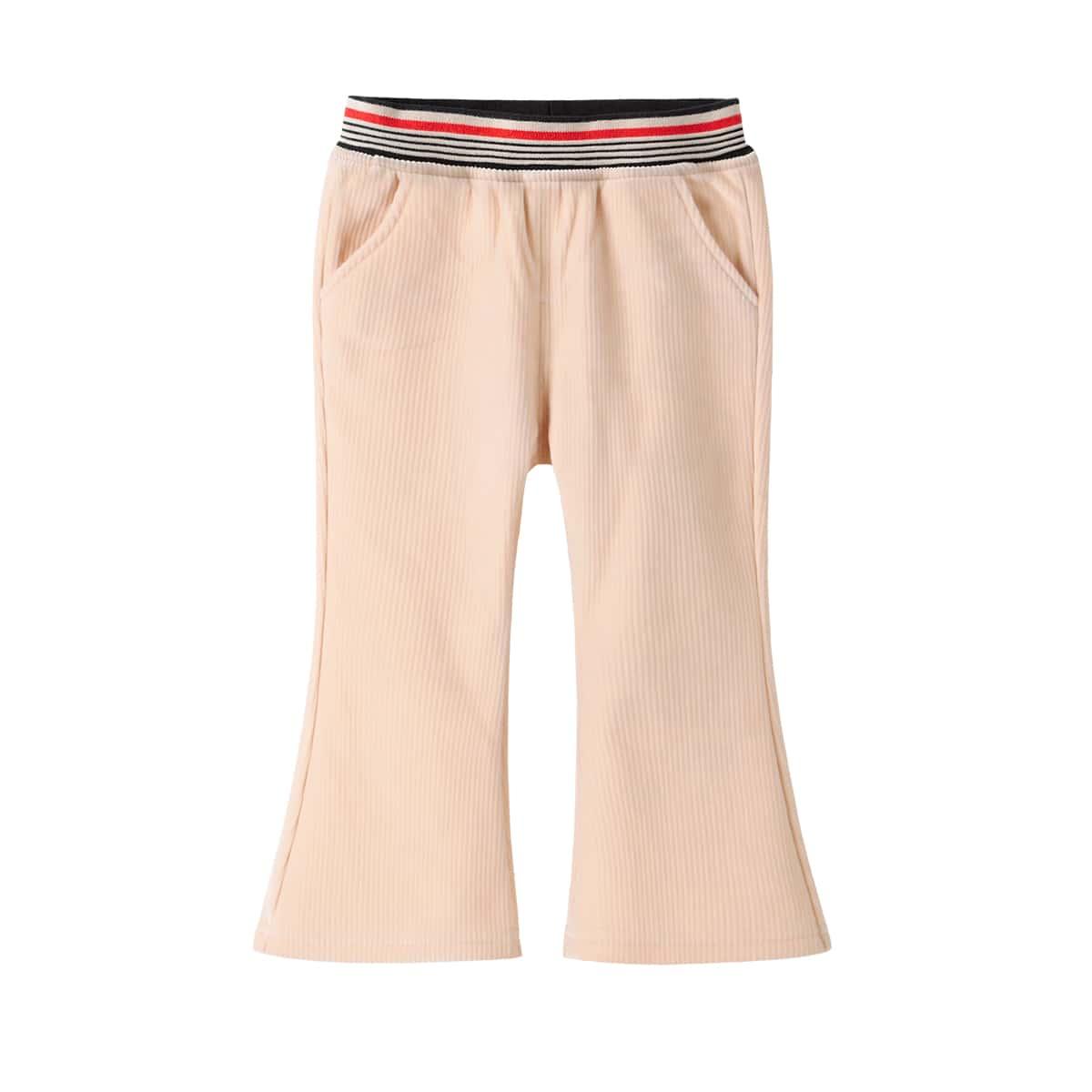 Карман полосатый повседневный брюки для маленьких девочек