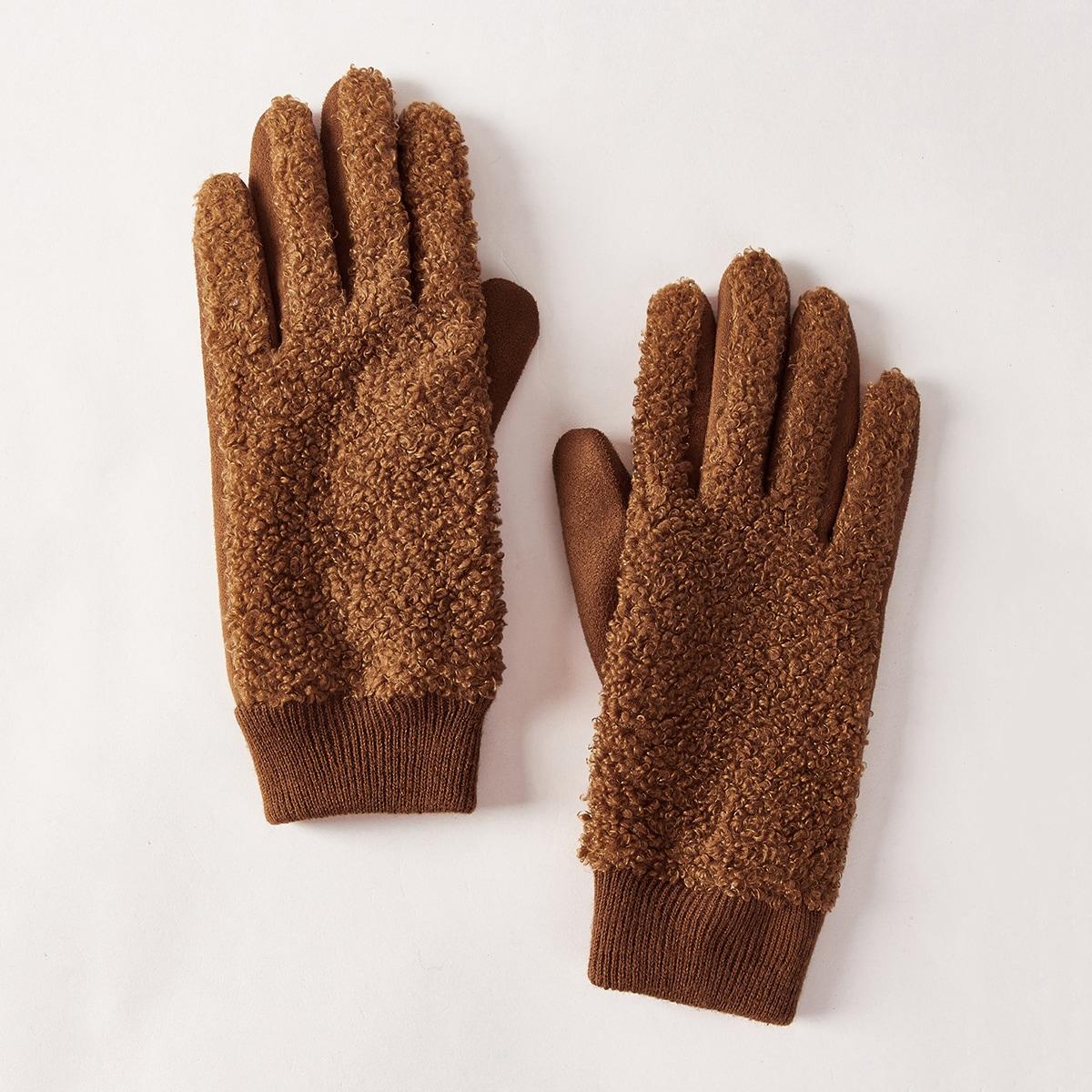 Плюшевые перчатки