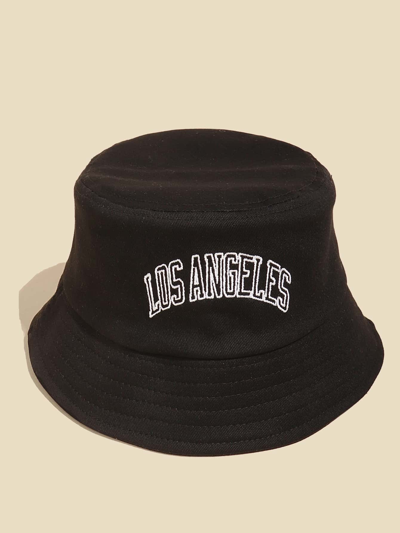 Letter Embroidery Bucket Hat thumbnail