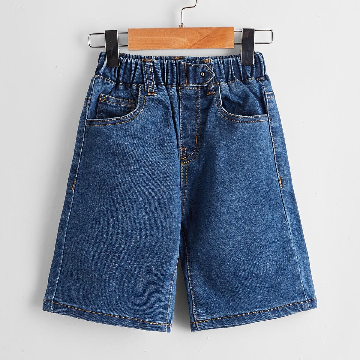 Для мальчиков джинсовые шорты с карманом