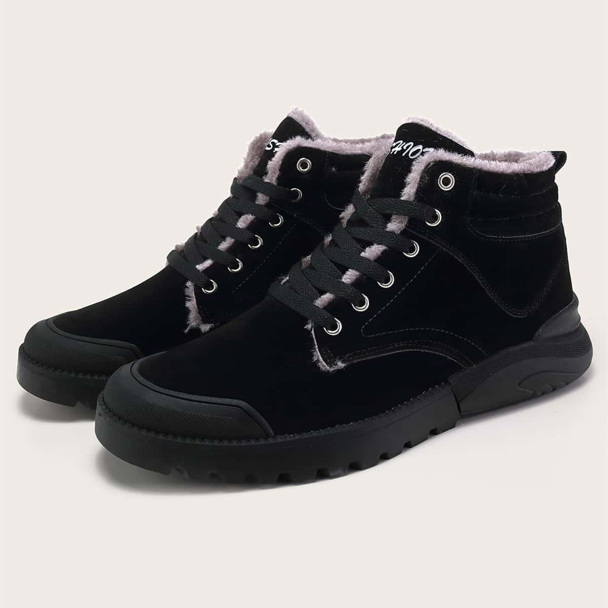 Мужские ботинки на плюшевой подкладке