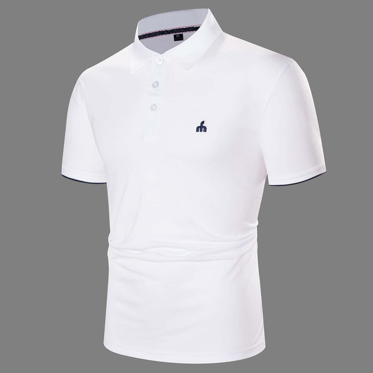 Вышивка Графический Работа Мужская рубашка-поло по цене 1 080