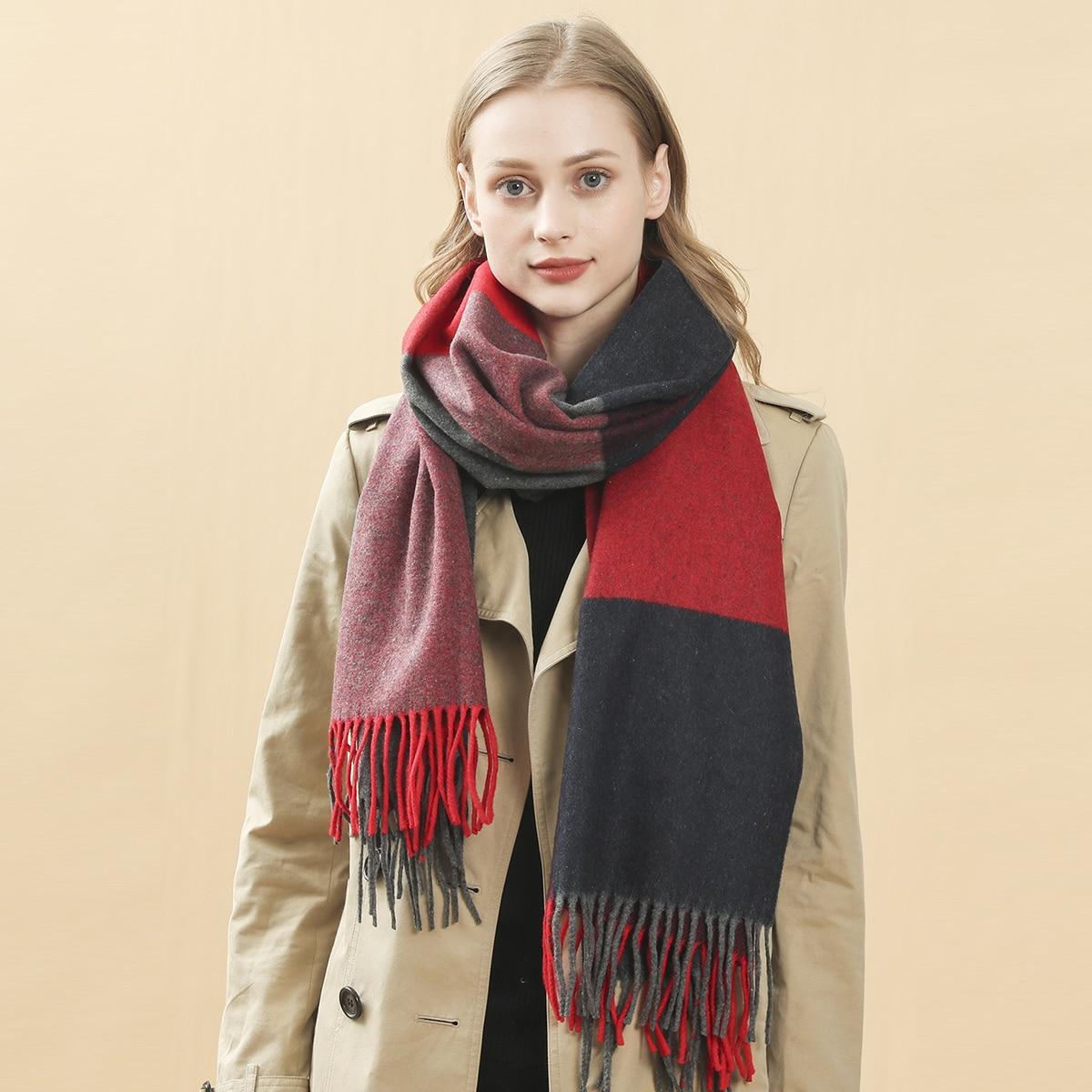Контрастный шарф