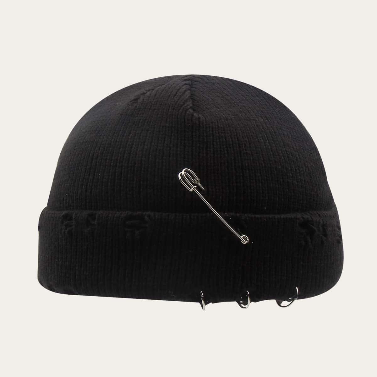 Трикотажная шапка-бини