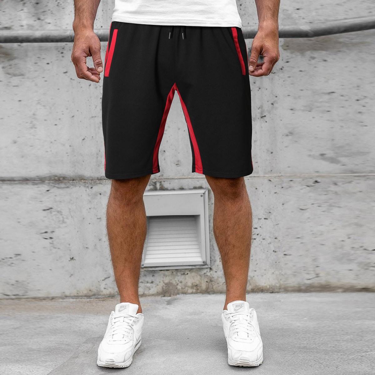 На кулиске контрастный институтский мужские шорты