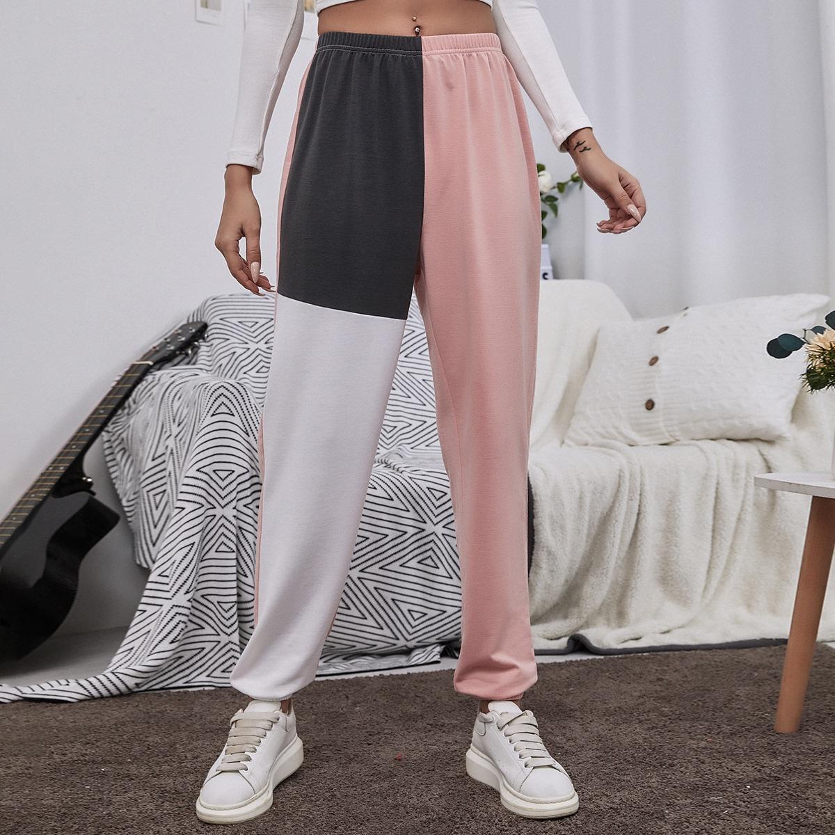 Контрастный повседневный брюки