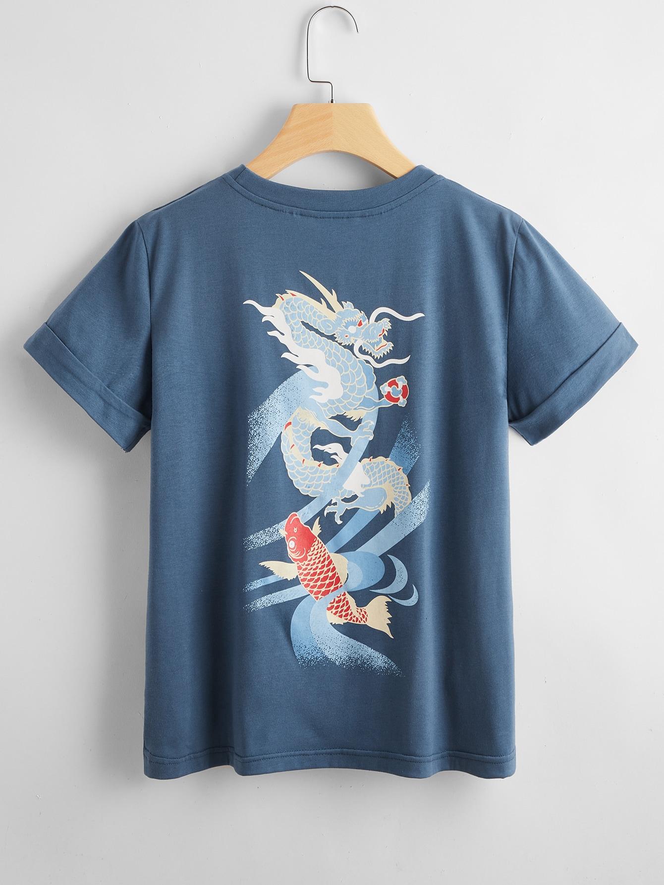 Plus Chinese Dragon Print Tee thumbnail