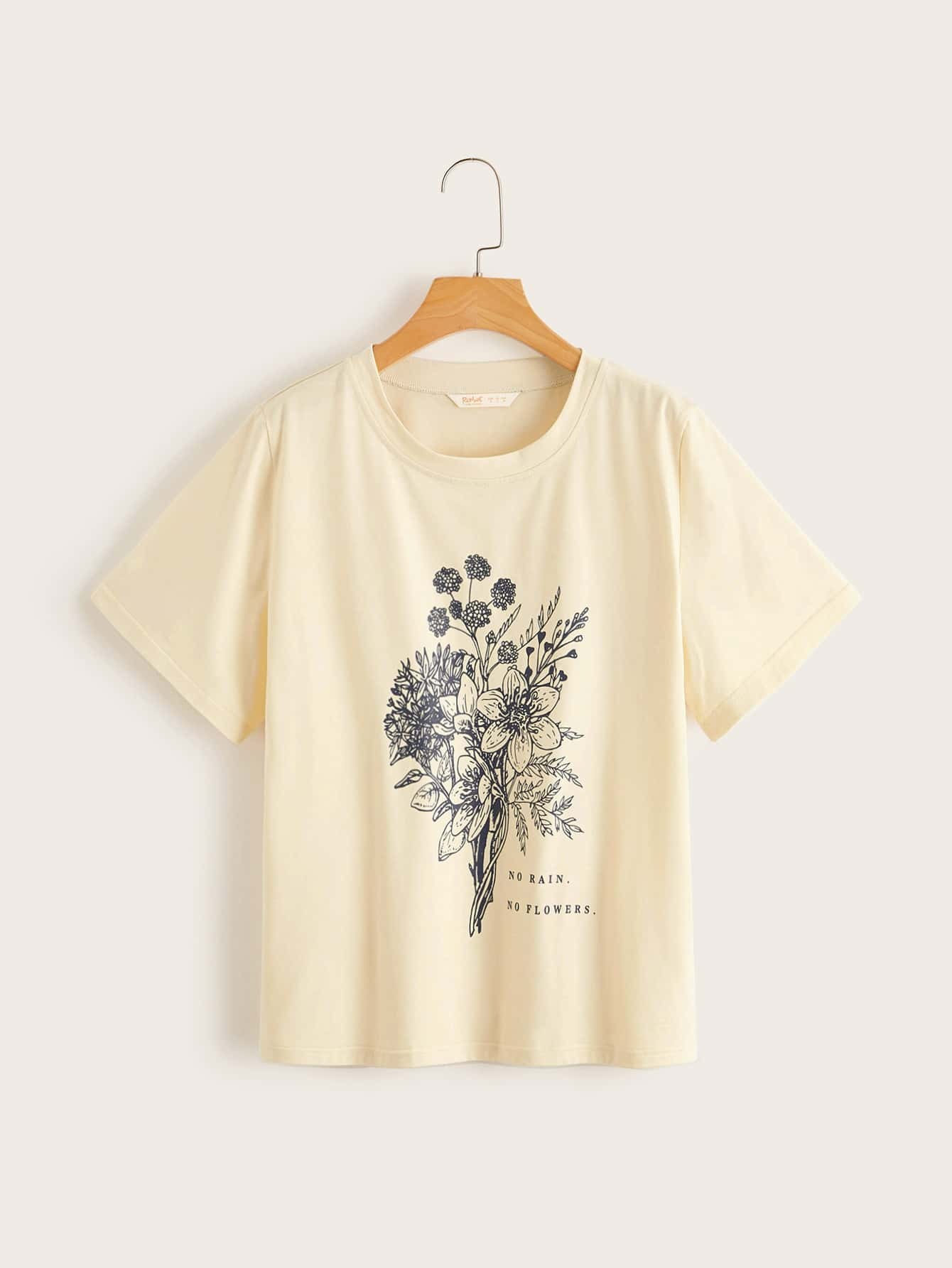 Plus Floral And Slogan Graphic Tee thumbnail