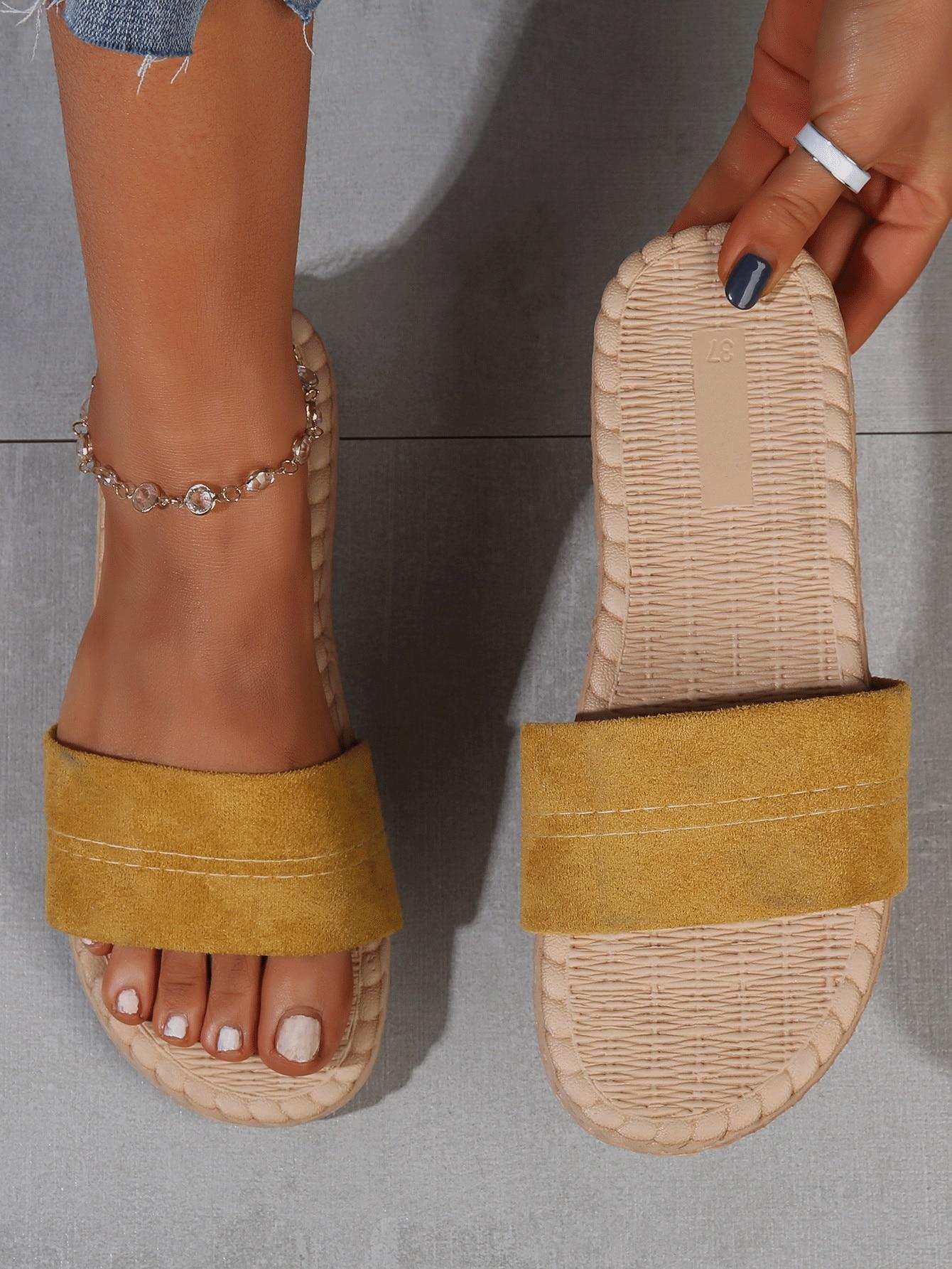 Minimalist Open Toe Slides thumbnail