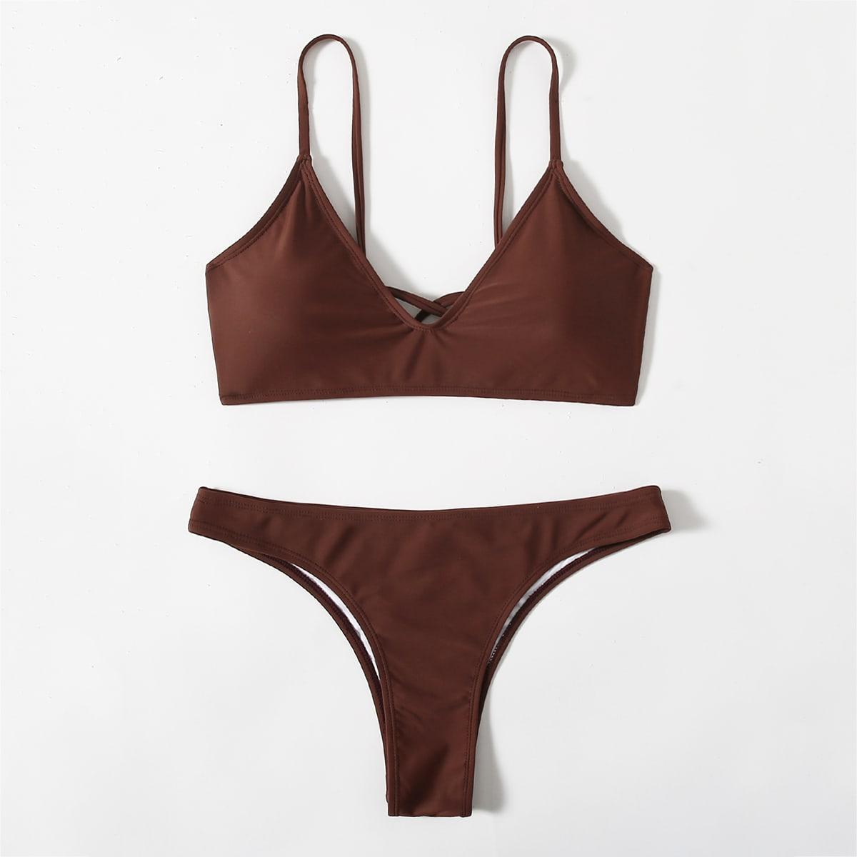 Crisscross Back Bikini Swimsuit