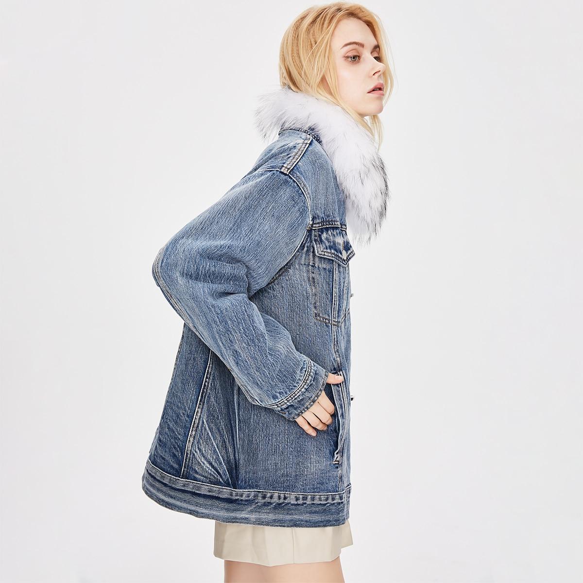 Vestes & Manteaux en jean Boutons Casual Unicolore