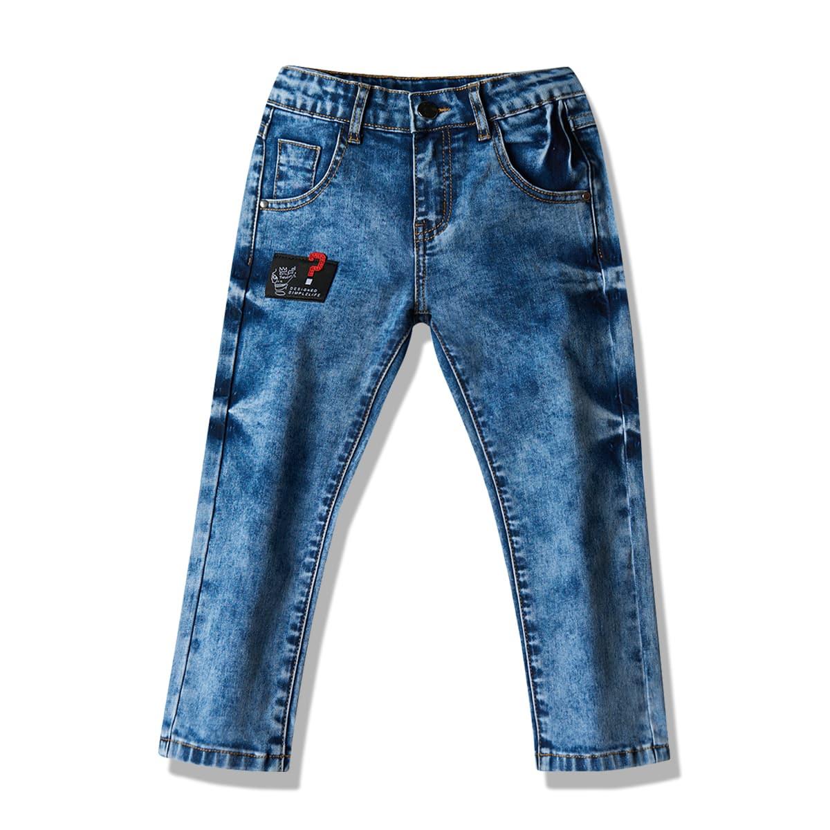 Карман буква джинсы для девочек