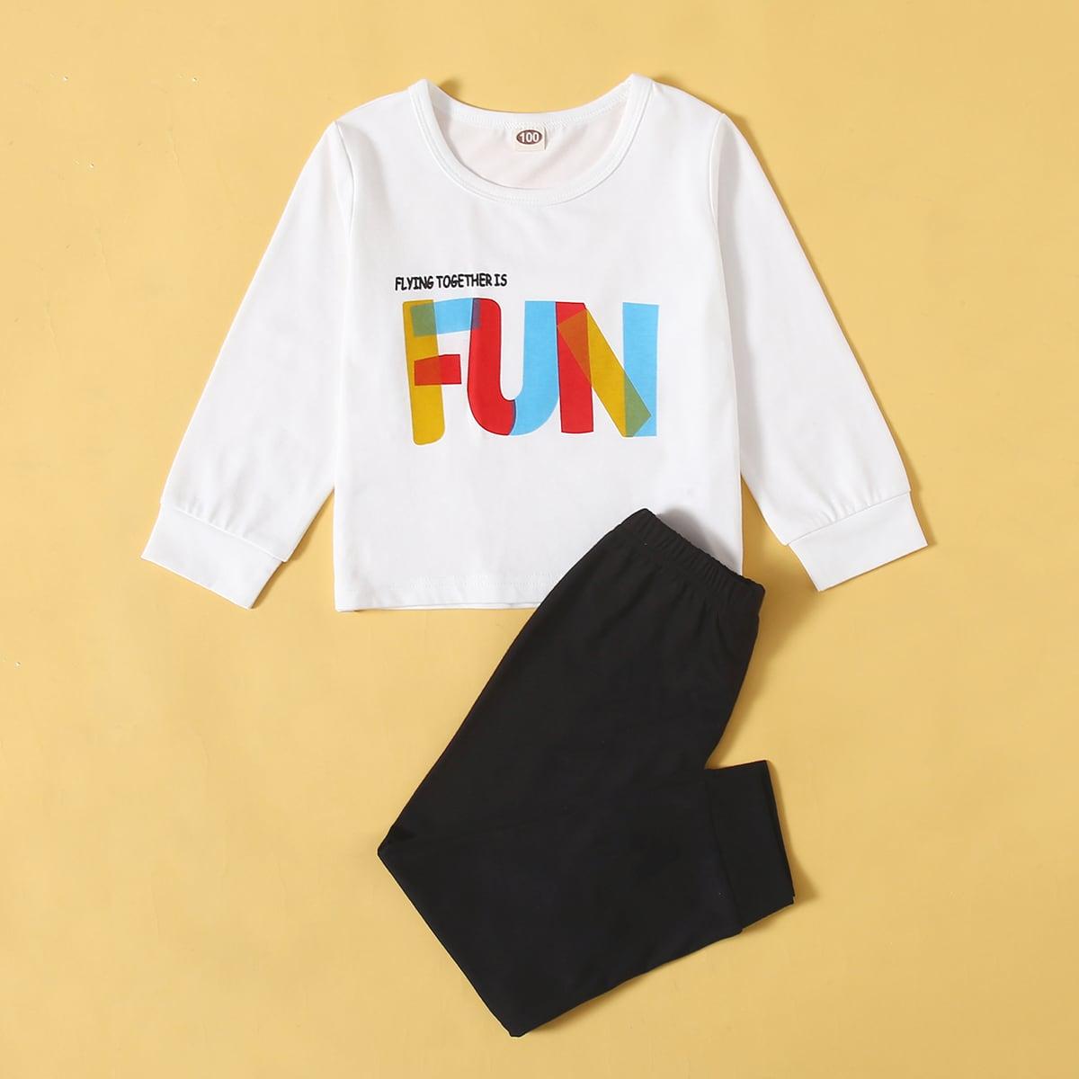 Лозунг повседневный домашняя одежда для мальчиков
