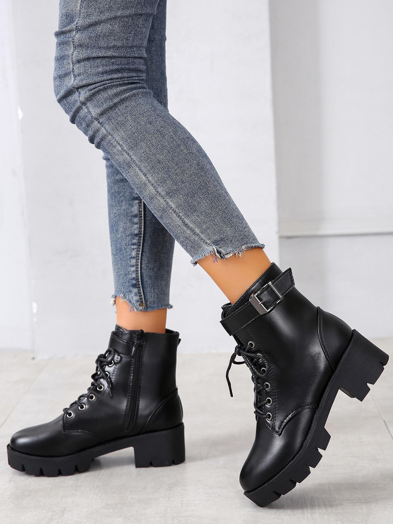 Lace Up Platform Boots