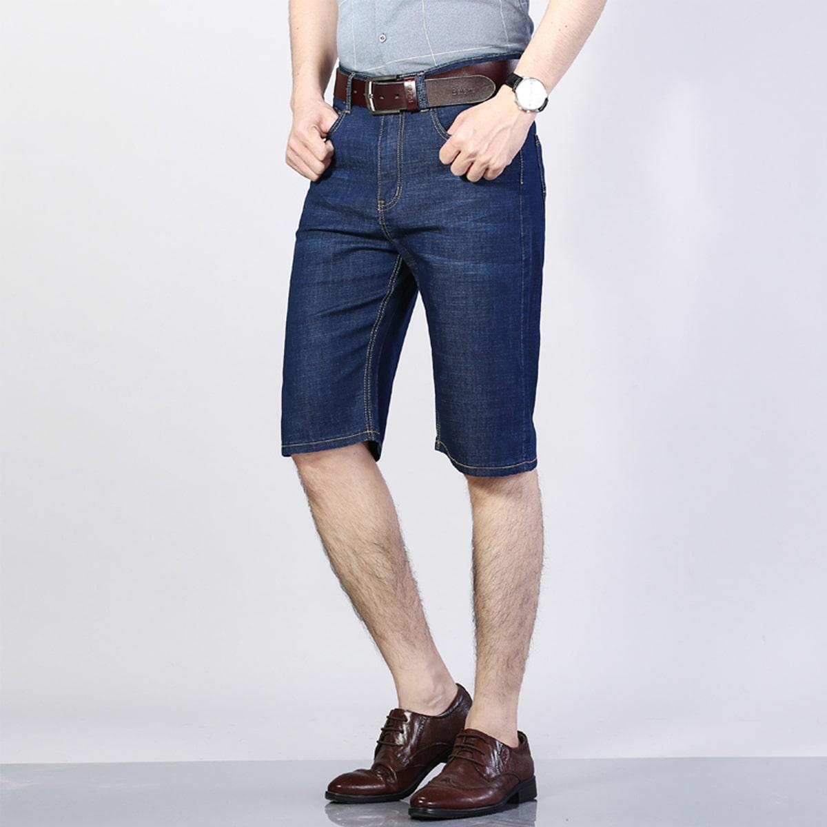 Карман буква Мужские джинсовые шорты