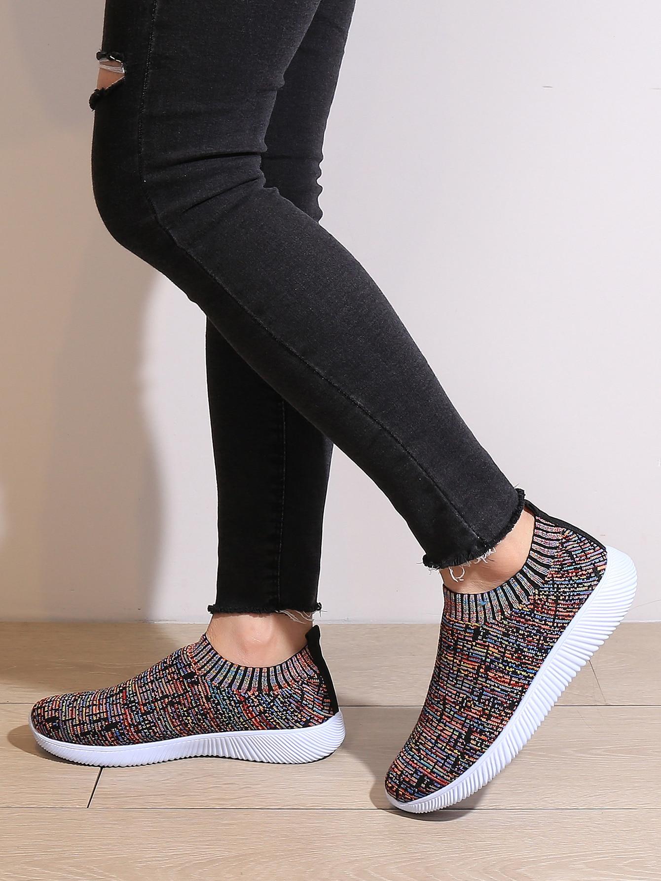 Slip On Knit Running Shoes thumbnail