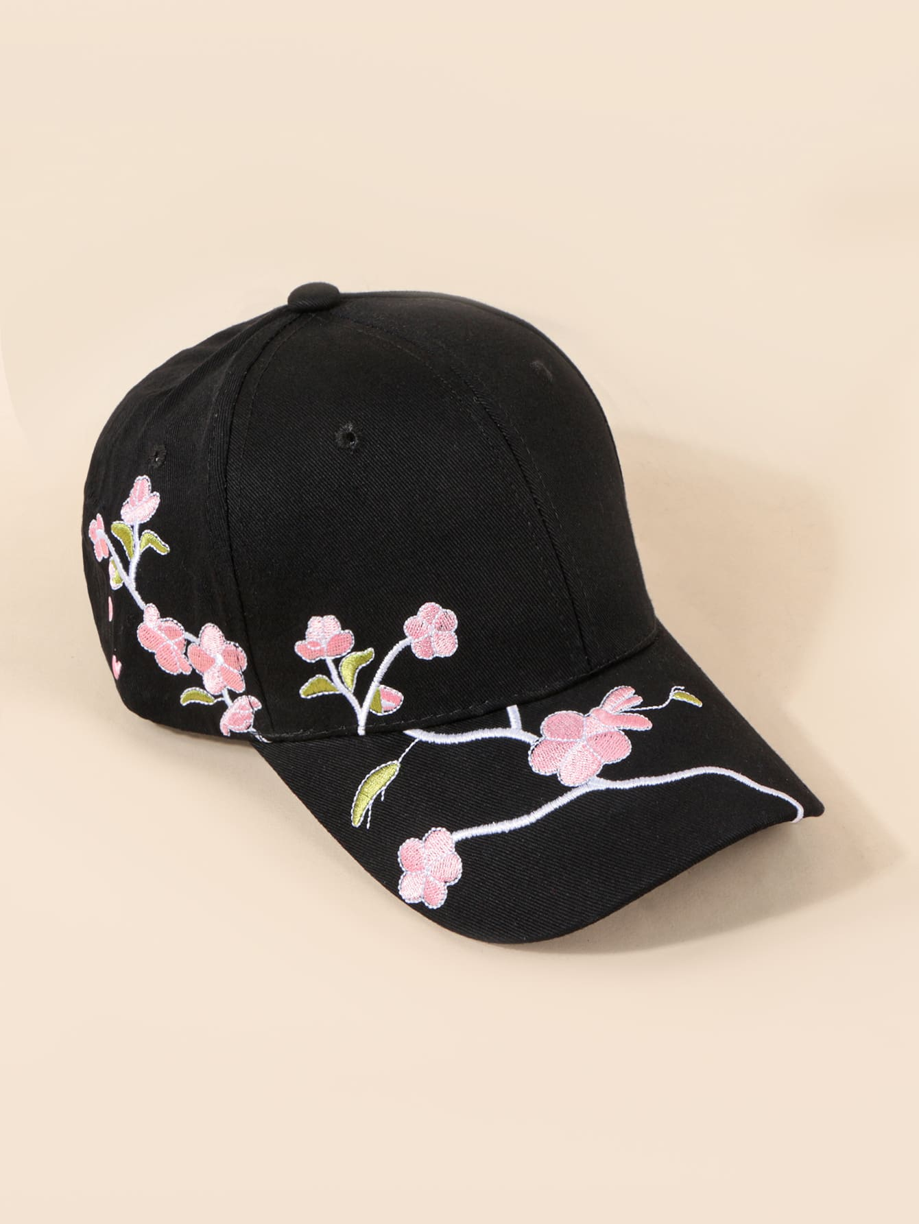 Flower Embroidery Baseball Cap thumbnail
