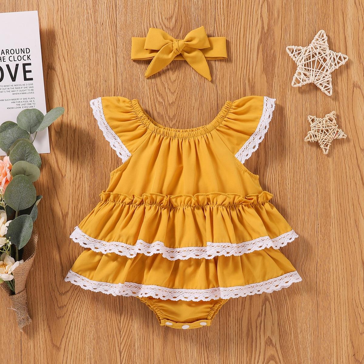 shein Schattig Baby-jurk Rimpeling