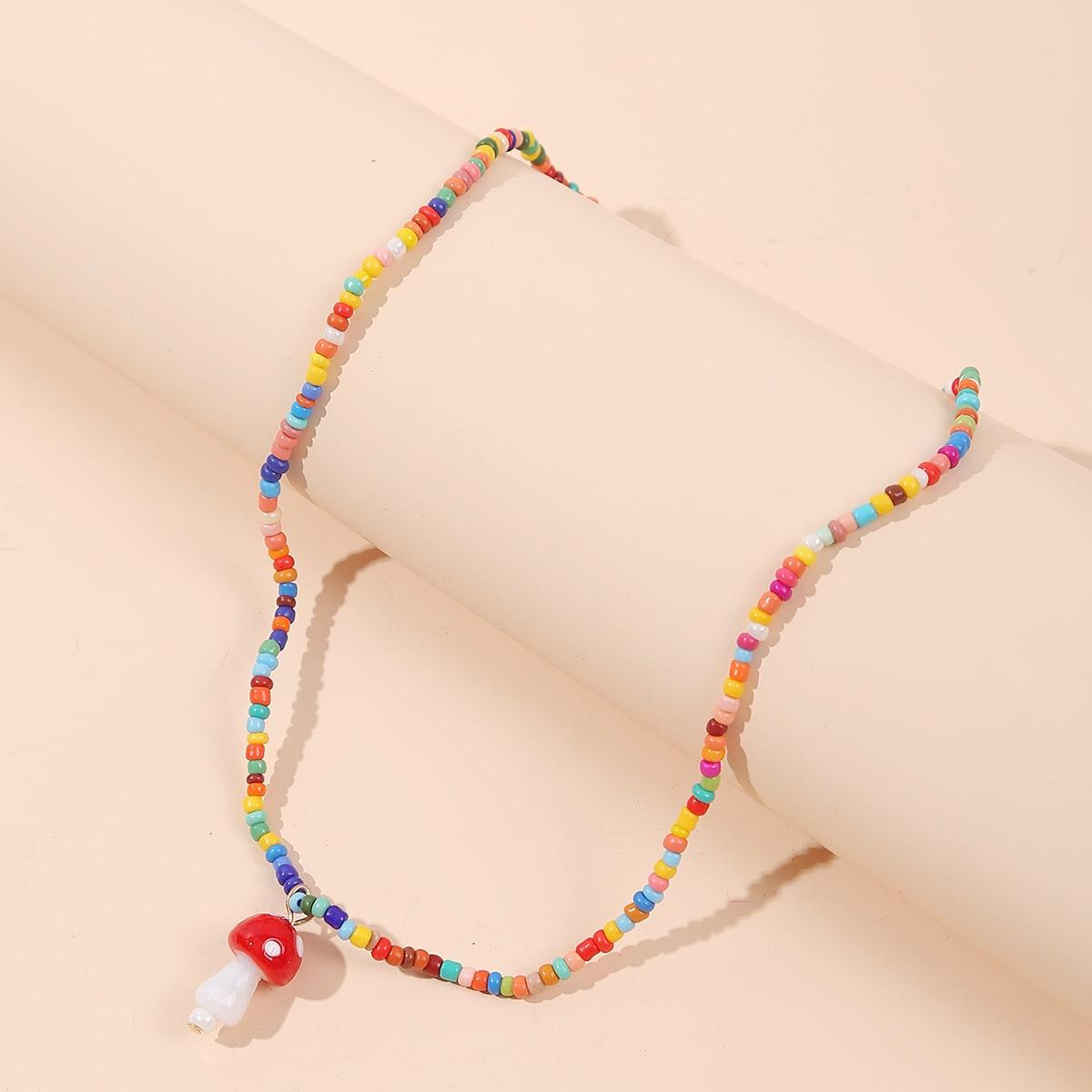 Mädchen Halskette mit Pilz Anhänger