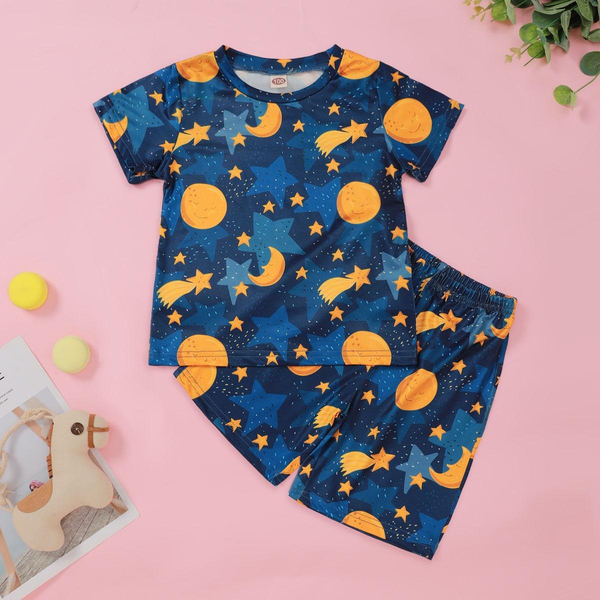 Принт космос милый Домашняя одежда для мальчиков