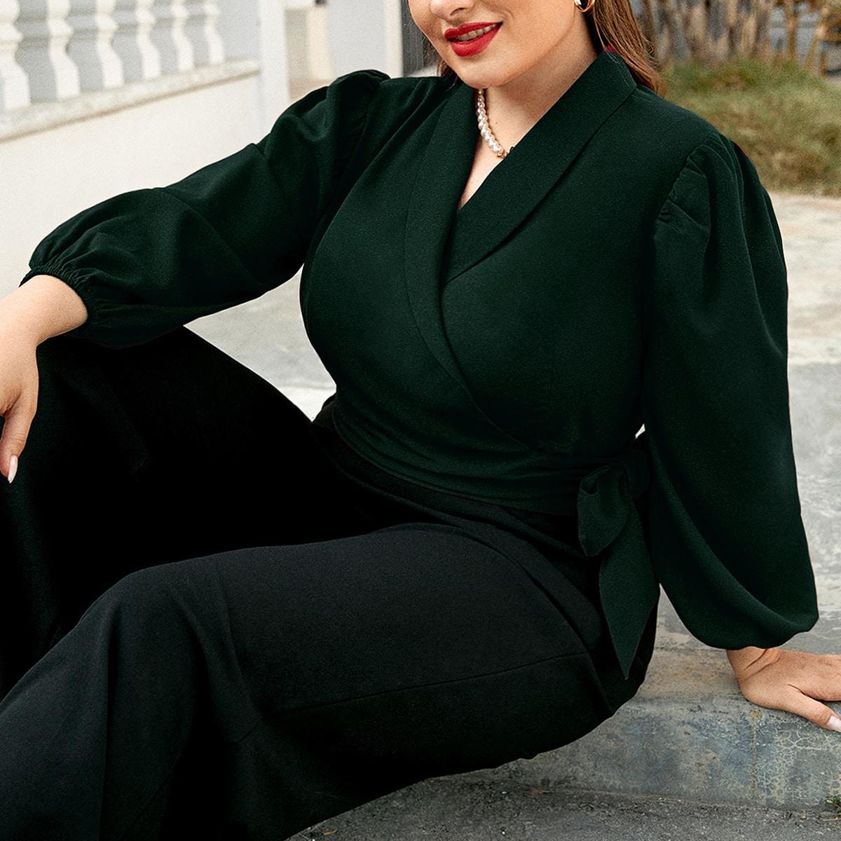 Блузка размера плюс с пышным рукавом