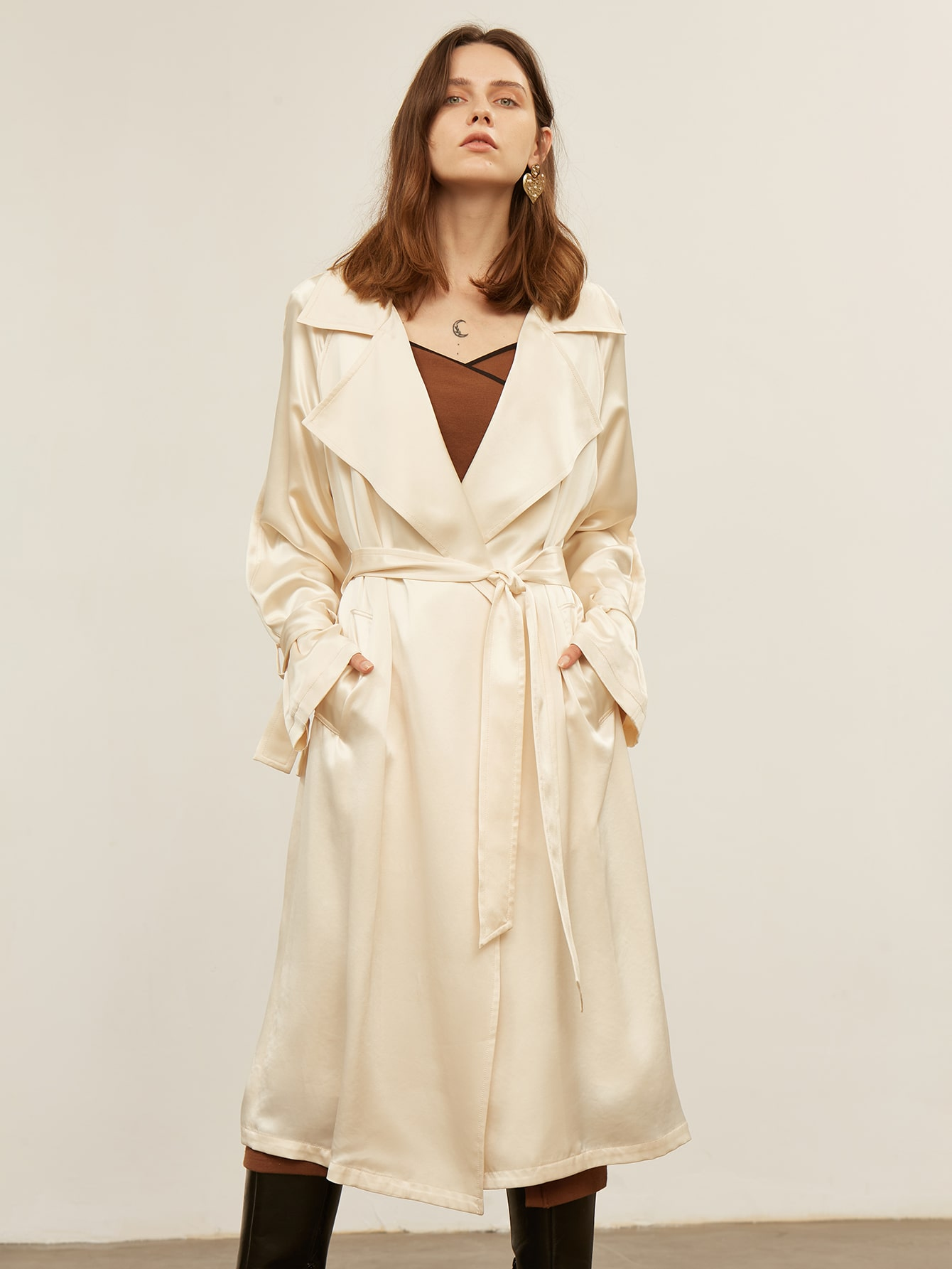 ACETIC ACID BELTED TRENCH COAT thumbnail