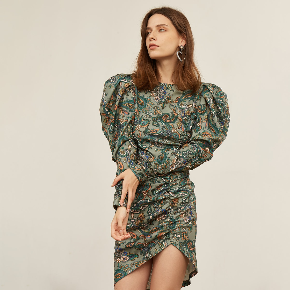 Платье из спандекса с принтом