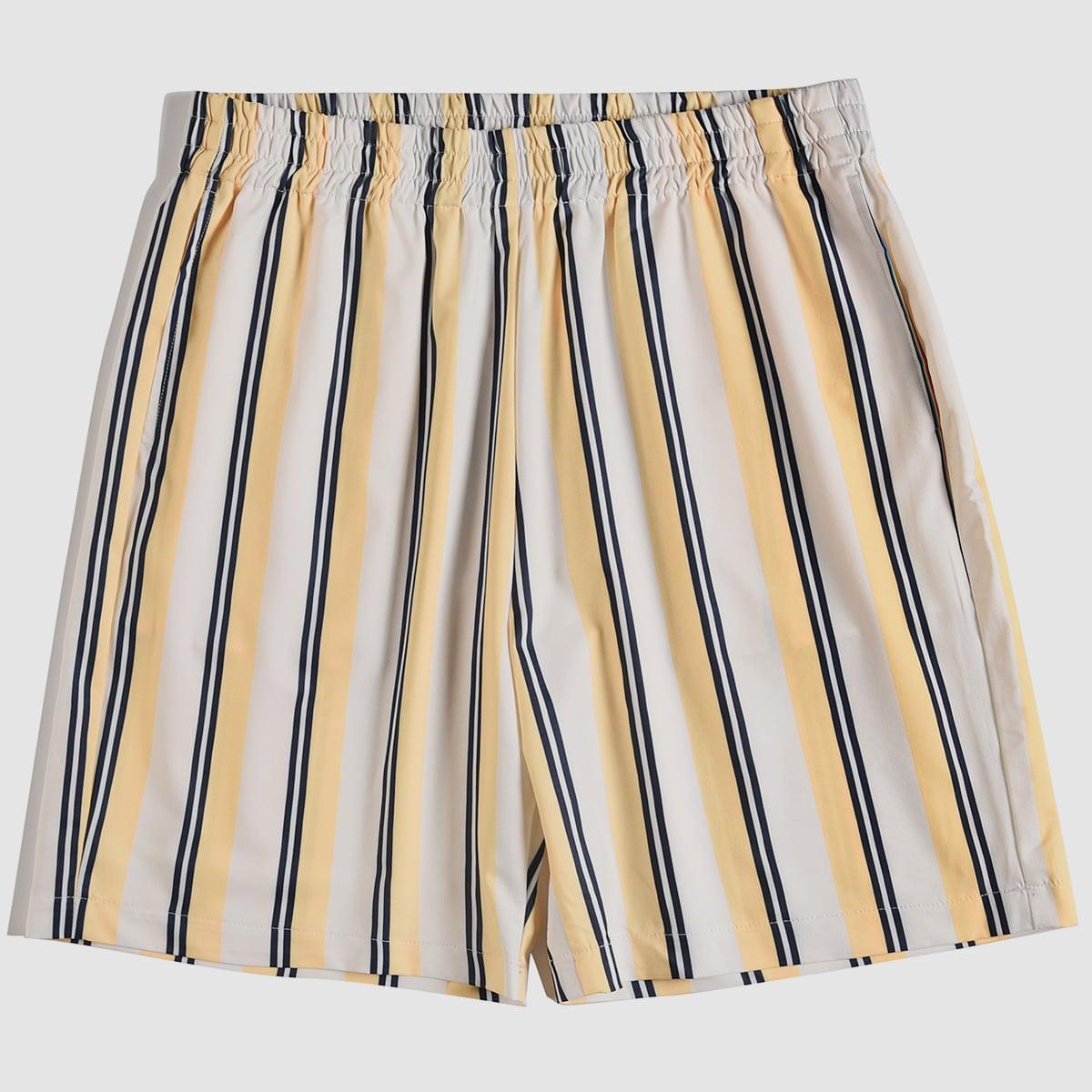 Полосатый институтский мужские шорты