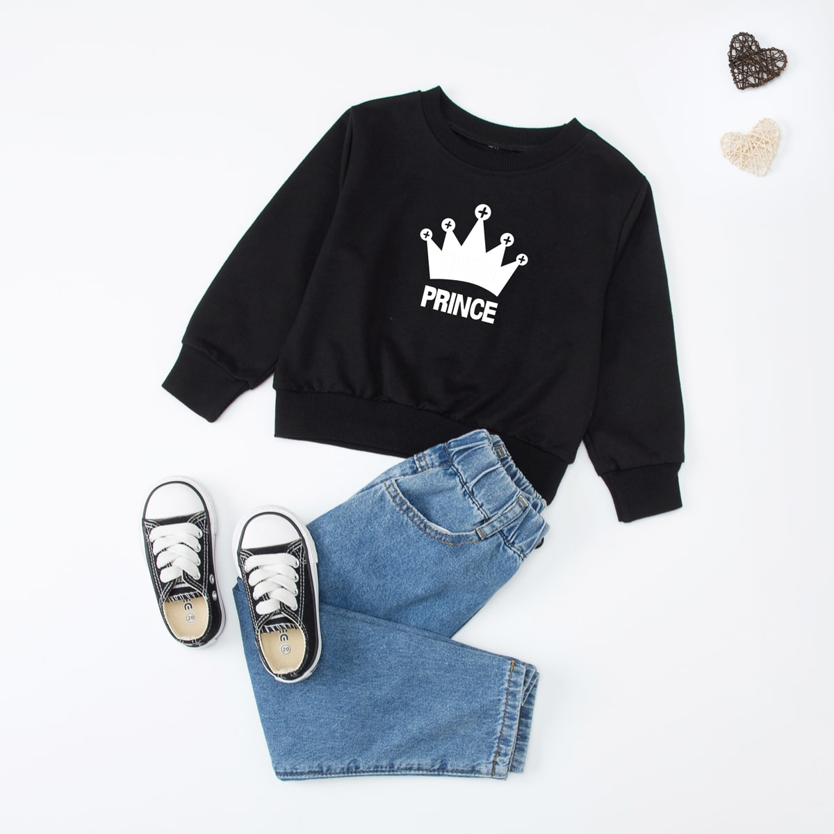 Toddler Boys 1pc Crown & Letter Graphic Sweatshirt, SHEIN  - buy with discount
