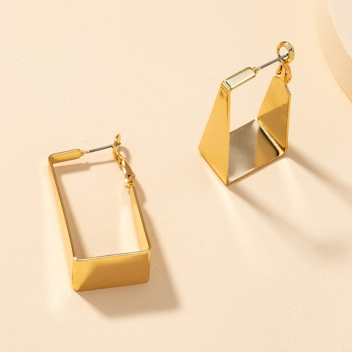 Metal Geo Earrings, SHEIN  - buy with discount