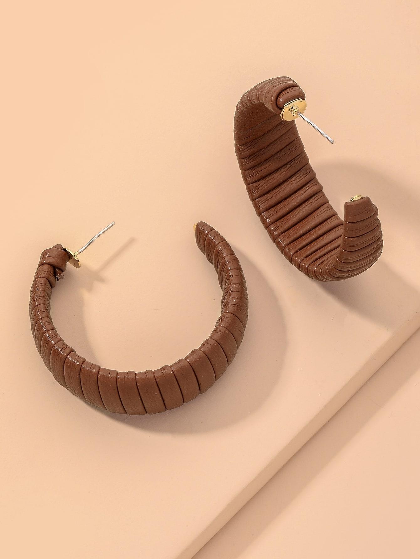 PU Cuff Hoop Earrings thumbnail