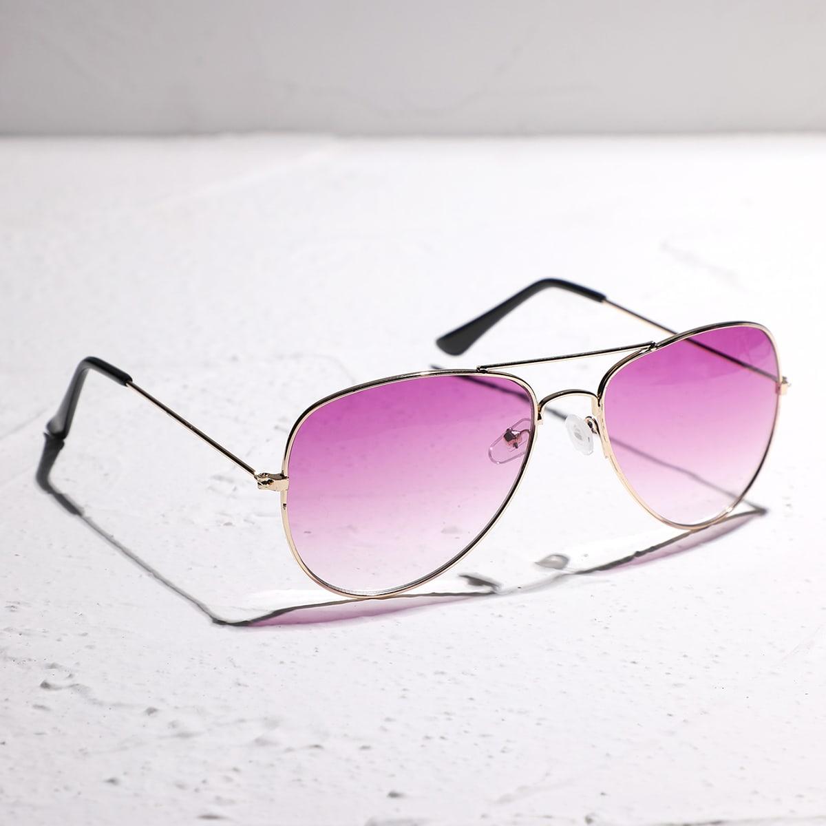 Солнцезащитные очки-авиаторы в металлической оправе