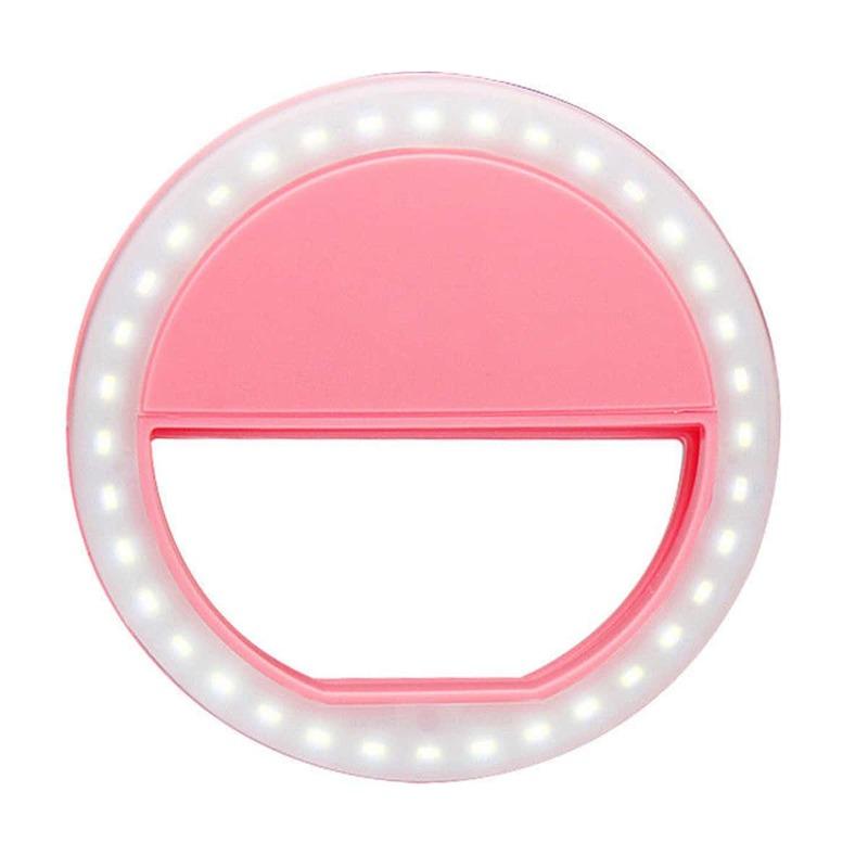1pc Ring Fill Light, Pink