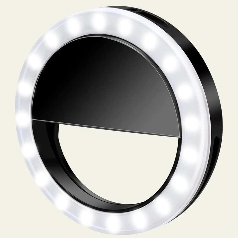 1pc Ring Fill Light, Black