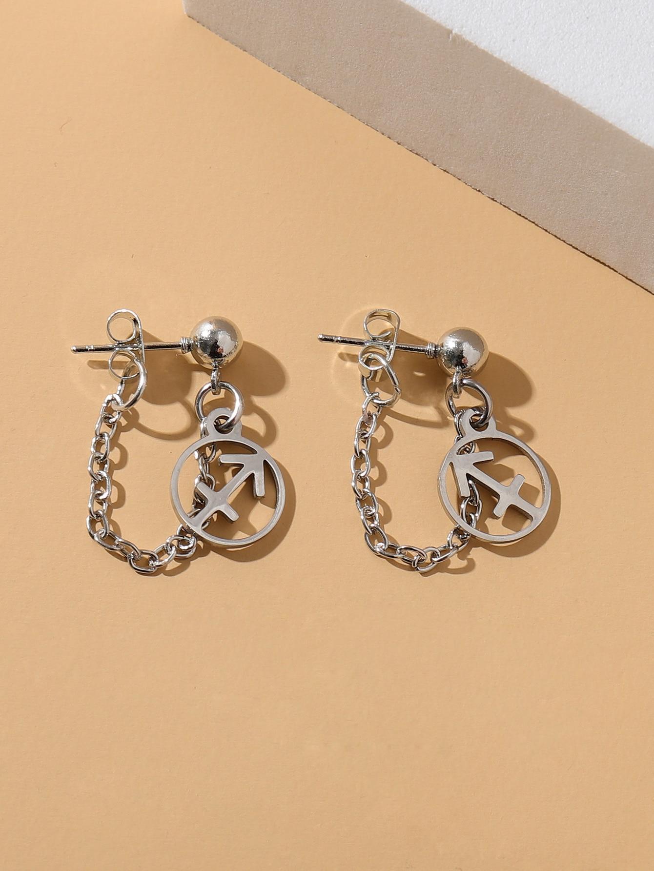 Constellation Decor Chain Drop Earrings thumbnail