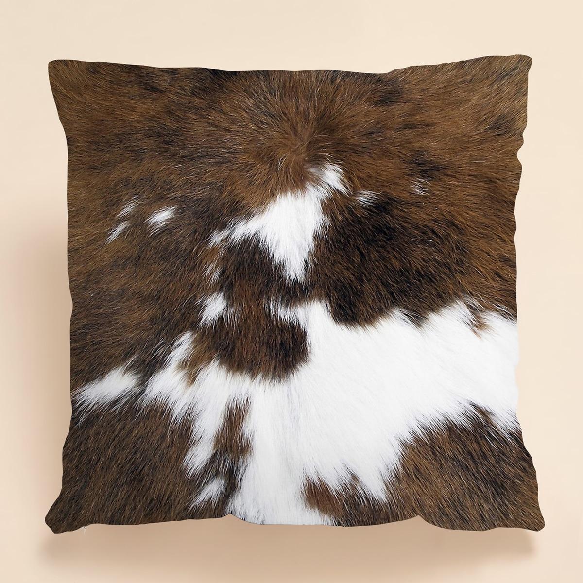 Kissenbezug mit Pelz Muster ohne Füllstoff